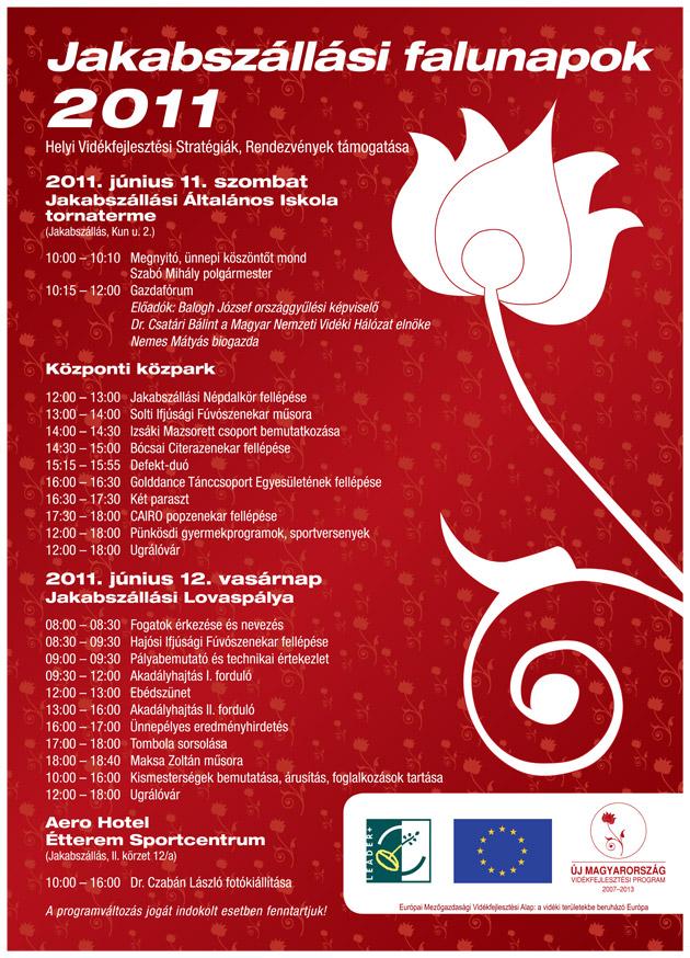 Jakabszállási Falunapok plakát